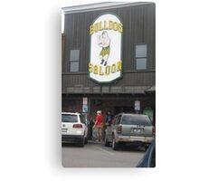 Bulldog Saloon. Canvas Print