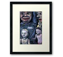 For Heavens Sake, Smile! Framed Print