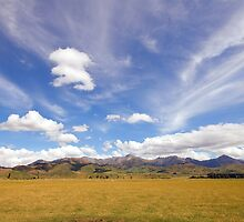 Sky and Mountains by Vickie Burt