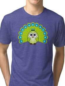 Little Cute Peacock Tri-blend T-Shirt