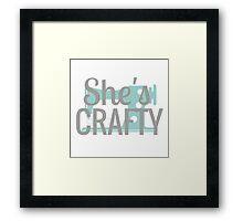 She's Crafty Beastie Boys Vintage Design Framed Print