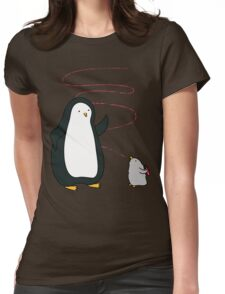 Little Penguin Likes to Draw! Womens Fitted T-Shirt