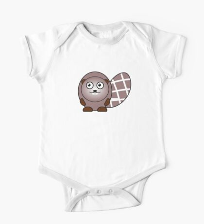 Little Cute Beaver One Piece - Short Sleeve