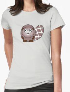 Little Cute Beaver Womens Fitted T-Shirt
