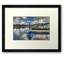 Bowness-on-Windermere..Marina Views Framed Print