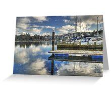 Bowness-on-Windermere..Marina Views Greeting Card