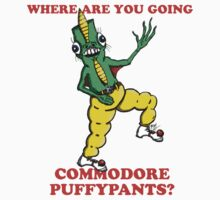 Where Are You Going Commodore Puffypants? Kids Clothes