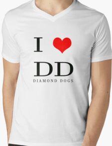 I Love DD Mens V-Neck T-Shirt