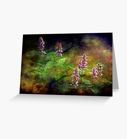 """""""Just An Old Fashioned Garden ...""""  Greeting Card"""