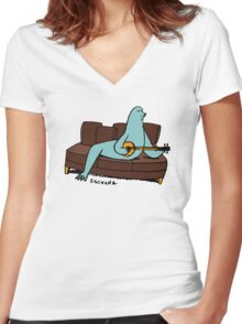 Seal it with a Banjo Song. Women's Fitted V-Neck T-Shirt