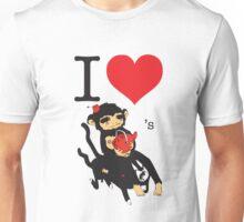 RuffBat I Love Monkey Tea Unisex T-Shirt