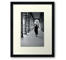 Evening stroll through the arches Framed Print