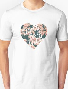 Don't Be a Dick Floral Heart Unisex T-Shirt
