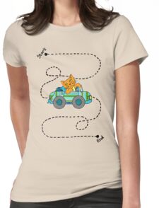 Life's a journey, baby, you gotta enjoy the ride. Womens Fitted T-Shirt