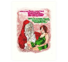 Pregnancy: Naughty and Nice Names Art Print