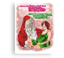 Pregnancy: Naughty and Nice Names Canvas Print