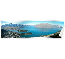 Queenstown from above Poster