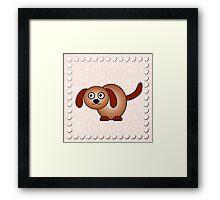 Little Cute Doggy Framed Print