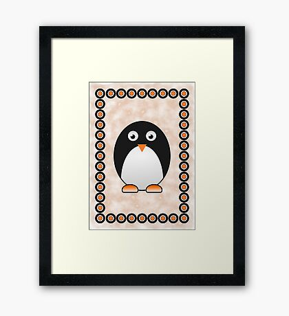 Little Cute Penguin Framed Print