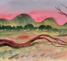 Western Hills at Dusk by Adrian Symes