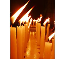 Candles Of Remembrance  Photographic Print