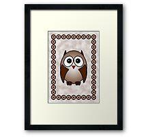 Little Cute Owl Framed Print