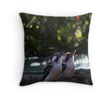 Kookaburras Breakfast - 6 0f a series of 10 pictures Bowen North Queensland Throw Pillow