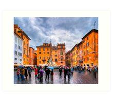 Piazza della Rotonda - Rome, Italy Art Print
