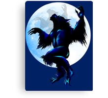 Werewolf On The Loose Canvas Print