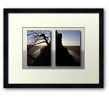 High above the Elbe river - diptych (Saxony Switzerland, Germany) Framed Print