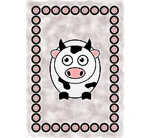 Little Cute Cow Photographic Print