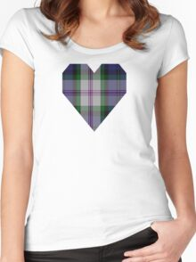 00383 Baird Dress Clan/Family Tartan  Women's Fitted Scoop T-Shirt