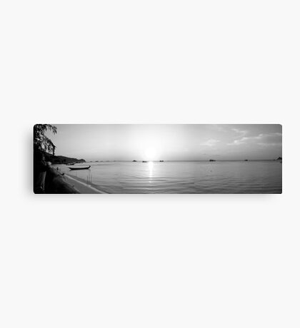 Sunset Black and White, Thailand Canvas Print
