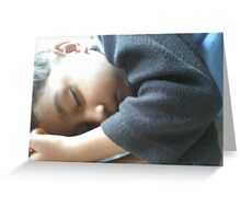 An angel's having forty winks Greeting Card