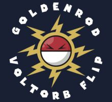 Goldenrod Voltorb Flip (in White) Kids Tee