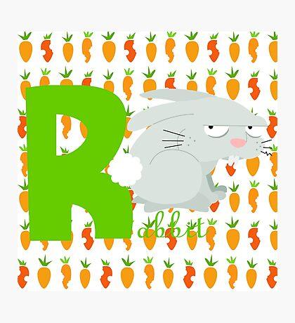 r for rabbit Photographic Print