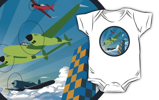 Retro Air Race by warbirdwear