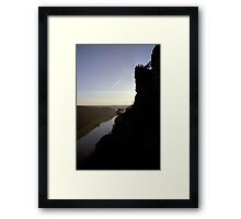 Bastei, lookout over the Elbe valley, Germany Framed Print
