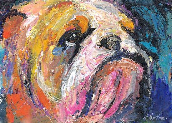 Impressionistic Bulldog painting #2 Svetlana Novikova by Svetlana  Novikova