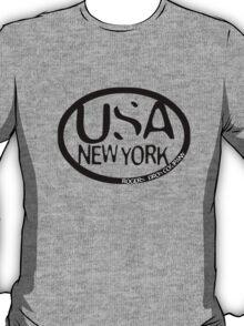 usa new york tshirt blue by rogers bros co T-Shirt