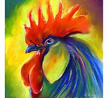 Vibrant Rooster Painting Svetlana Novikova Photographic Print
