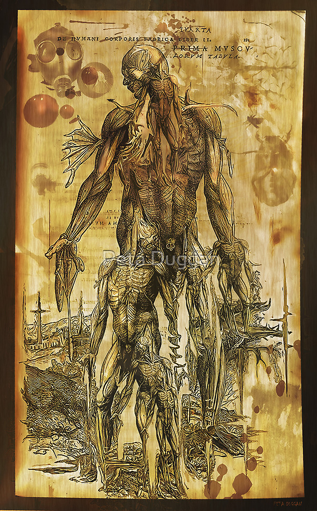 """Future anatomy alien twisted doodle interpretation"" by Peta Duggan"