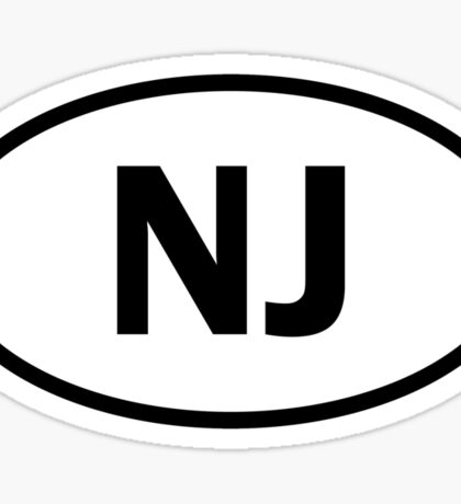 New Jersey - NJ - oval sticker and more Sticker