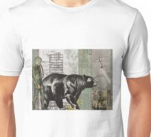 the astronaught walks along side the bear (horizontal) Unisex T-Shirt