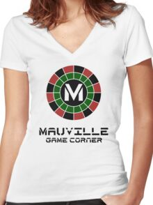 Mauville Game Corner Women's Fitted V-Neck T-Shirt