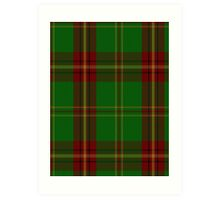 00384 Beard Family Portrait/Artifact Tartan  Art Print