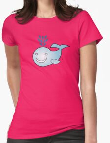 Little Cute Whale Womens Fitted T-Shirt
