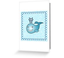 Little Cute Whale Greeting Card