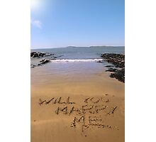 will you marry me Photographic Print