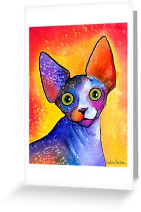 Sphynx Cat painting #3 Svetlana Novikova by Svetlana  Novikova